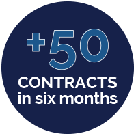 Secured over 50 contracts within six months to a year for a large hospital system with the largest being a $500,000,000 contract, and the lowest a $25,000,000 contract